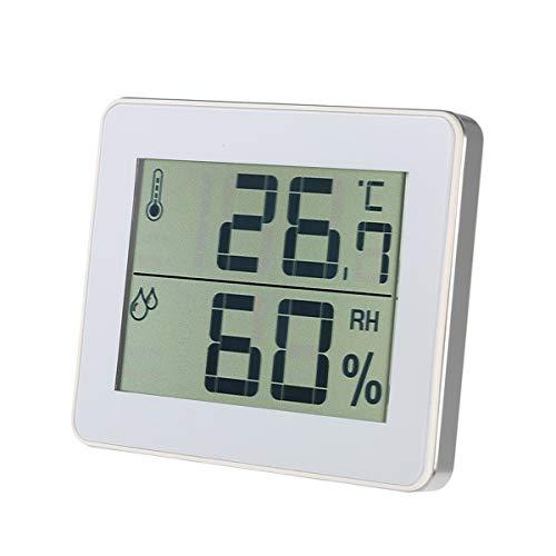 BESPORTBLE Innenthermometer-Hygrometer mit Komfortanzeige für Babyzimmer im Heimbüro (weiß)