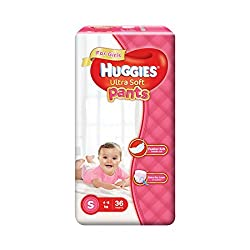 Huggies Ultra Soft Small Size Premium Diapers Pants for Girls (36 Counts)