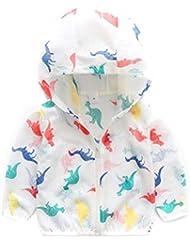 Mare e piscina HUPLUE Girls Kids Sun-Protective Abbigliamento con Cappuccio Giacca Ultrasottile ad Asciugatura Rapida per Esterni