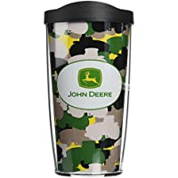 Tervis John Deere Run Like a Deer Tumbler with Black Lid, 16-Ounce by Tervis
