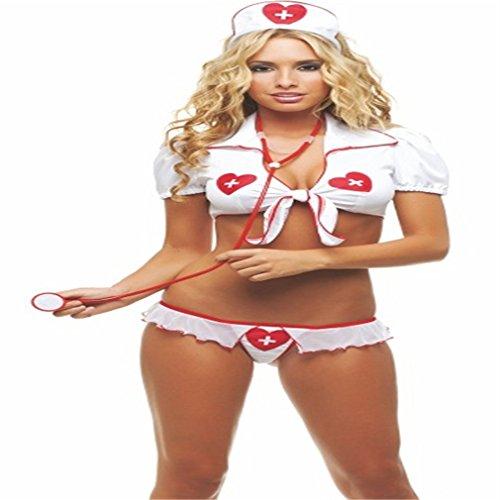 Kostüme Dessous Damen Sexy Hot Uniform Krankenschwester Push up Cosplay mit G-String für Party Club Karneval reizwäsche Anzug