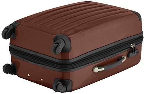 HAUPTSTADTKOFFER® 2er Hartschalen Kofferset · Handgepäck 42 Liter (55 x 35 x 19 cm) + Koffer 74 Liter (65 x 41 x 26 cm) · Hochglanz · Zahlenschloss · WALDGRÜN Mocca Braun