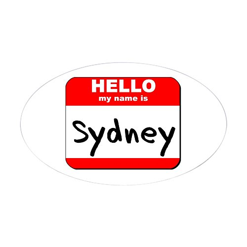 cafepress-hello-my-name-is-sydney-oval-sticker-oval-bumper-sticker-car-decal