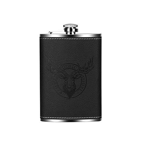 Edelstahl Flachmann 7oz Outdoor Camping Tasche tragbar 100% auslaufsicher Premium Geschenk für Aufbewahrung von Whiskey/Alkohol Innen Fenster -