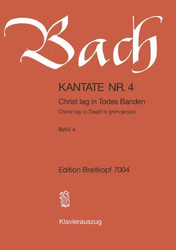 Kantate BWV 4 Christ lag in Todes Banden - 1. Osterfesttag [Ostersonntag] - Klavierauszug (EB 7004)
