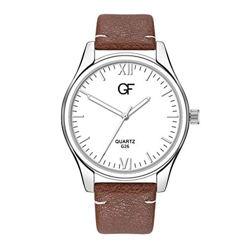 Huacat Herren Kalender Quarzuhr Quarz mit Leder Mesh Metall-Armband Chronograph Armband Business StahlGürtel Casual Multi Zifferblatt Herrenuhr