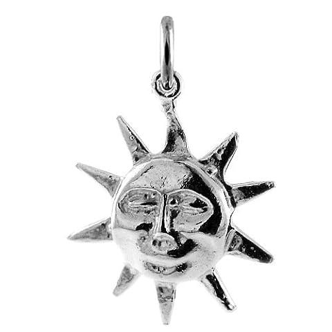 TheCharmWorks Sterling-Silber Lächelnde Sonne Charmanhänger | Sterling Silver Smiling Sun Charm