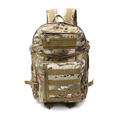 LJ&L Outdoor 36-55L Hochleistungs-Schultern Tarn-Taktik Camping Wandern Tasche, starke Verschleiß-resistenten Licht, Nylon wasserdicht reißfesten Camping Rucksack A