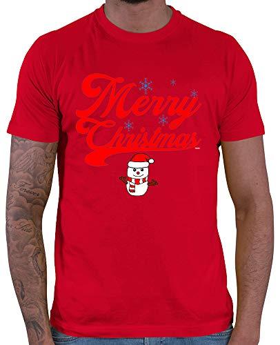 HARIZ  Herren T-Shirt Weihnachten Merry Christmas Stadt Weihnachten Xmas Schnee Liebe Plus Geschenkkarte Rot M