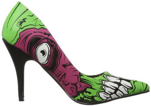 Iron Fist Zombie Stomper Heel, Scarpe con plateau donna Oro (Monster Green)