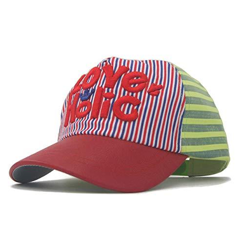 YanLong Sommerbuchstabe der Kinder Jungen-Stickereimaschenkappe PU-Kappen-Hip-Hop-Baseballmütze D (Niedliche Hip Hop Kostüme Für Kinder)