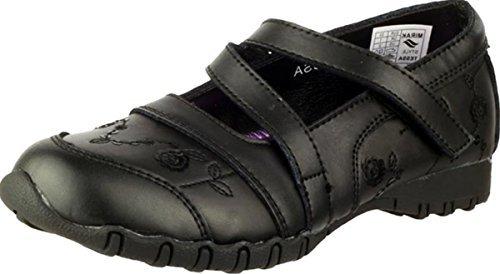 MIRAK tessa filles arrière pour chaussures d'école simple fermeture uniforme scolaire habillé bottes