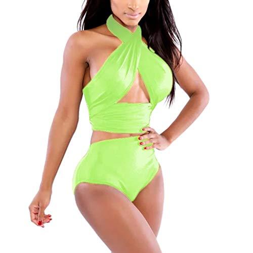 Darringls_Traje de baño,Traje de Baño Sin De Hombro Sexy Conjunto de Bikini de Mujer Verano bañadores...