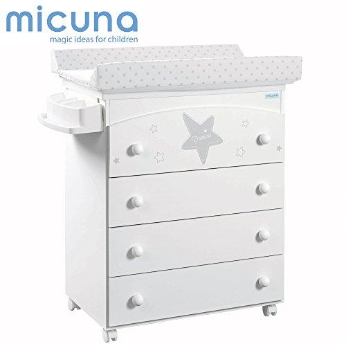 Micuna Estela - Bañera, unisex, color blanco y gris
