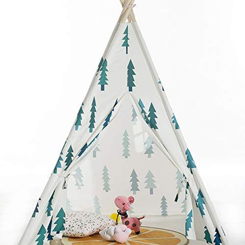 SSLW Zelt für Kinder Indisches Zelt Kleinen Baum Druck Spielhaus Indoor und Outdoor Spielzeug Haus Kinder Faltzelt (160 cm) -