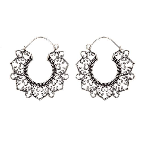 81stgeneration 40 mm Aretes Pendientes Filigrana Flor