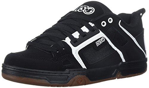 DVS Comanche Shoes UK 9 Black White Gum Nubuck (Cap Dvs)