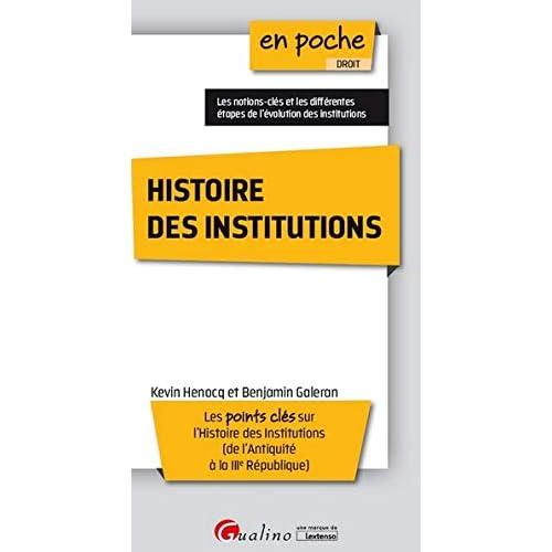 Histoire des institutions