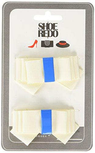Shoe String Clips Classic - Decoración de zapatos adultos unisex, color Marfil, talla Talla Unica