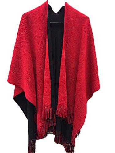 Samanthajane Clothing Damen-Poncho/Umhang, Cape/Decke zum Wenden Gr. Einheitsgröße, -