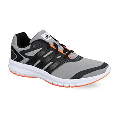 adidas Men's Brevard M Dark Grey, Black and Orange Mesh Sport Running Shoes - 7 UK