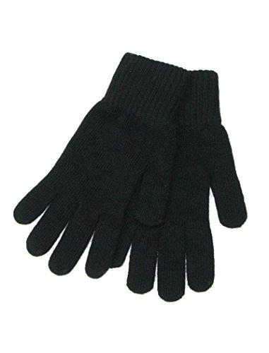 LOVARZI Guantes Damas Negro en lana - Guantes de lana para mujeres - Regalos de Navidad para ella