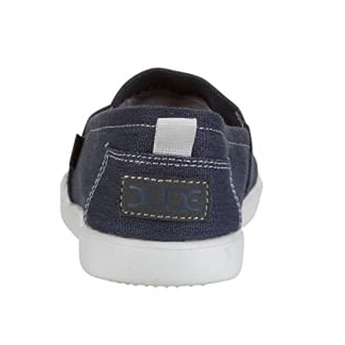 Dude Shoes Women's Capri Navy Stretch Slip On Blue