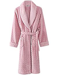 XINSU HOME Couple nightgown autumn and winter ladies coral fleece  long-sleeved bathrobe bathrobe flannel thickening long men s… a05add804