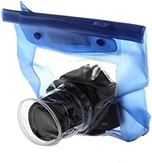 DSLR Bags Waterproof Camera Pouch with Lens Cleaning Pen (Clear)