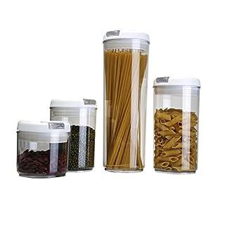 Aojia Frischhaltedosen aus Kunststoff, rund, transparent, 4 Stück