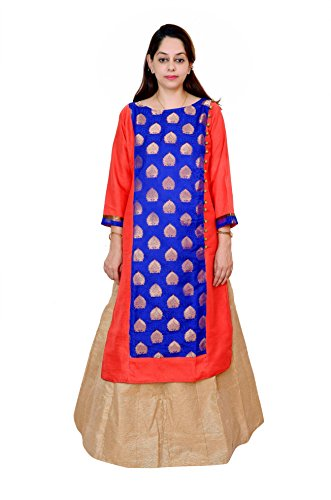 Kieana Women Banglore Silk kurti With elegent Zari work And Stand Color| Designer Trending Casual Party Wear Kurta | Attractive and Beautifull Bollywood Style Kurtis For Woman | Latest Collection Of Premium High Quality Ethnic Wears For Girls Ladies