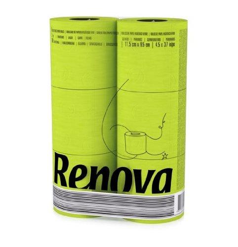 Renova Toilettenpapier Grün (6 Rollen)