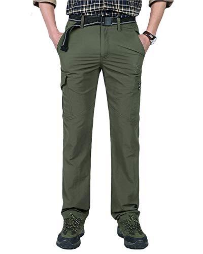 Jonact Pantalon Trekking Hombre Verano Pantalon Montaña
