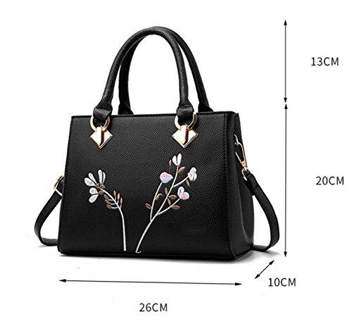 Umhängetasche Damen Schräge Kleine Quadratische Tasche Handtasche Niet Mode Purple