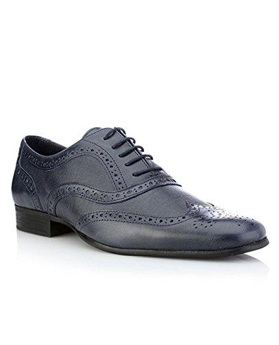 Red Tape Men Carn Blau Formale Schuhe (Rindleder-leder-slip)