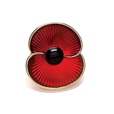 The Royal British Legion Poppy Collection Enamel Pin Gold Tone