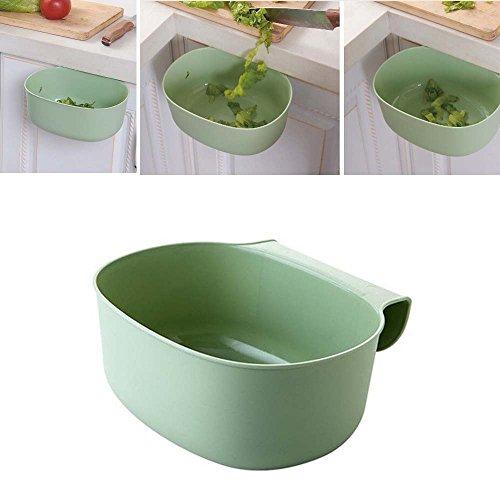 Gaddrt Umwelt hängende Küchenschrank-Tür-Abfall-Gestell-Art-Speicher-Mülleimer Papierkorb (Green)