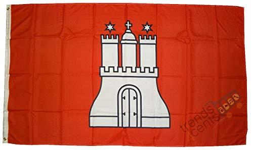 Hamburg Flagge / Fahne Großformat 250 x 150 cm wetterfest
