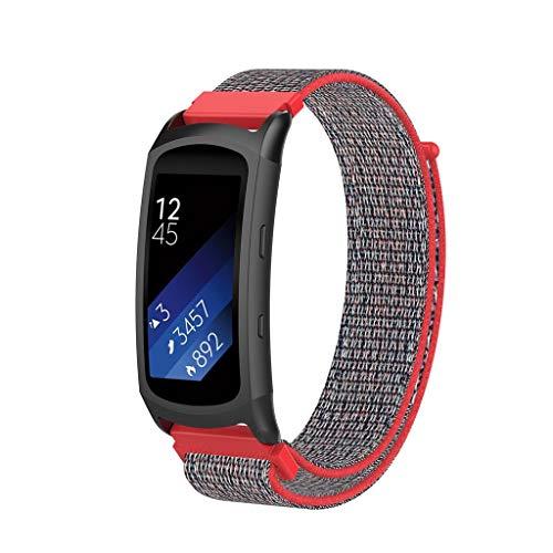 Upxiang für Samsung Gear Fit2 / Fit2 Pro Armband Nylon Ersatz Wrist Strap Band Freizeit Uhrenarmband Smart Watch Verstellbar Armbänder für Samsung Galaxy Watch