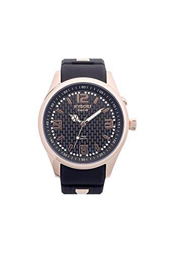 Kyboe Unisex-Armbanduhr Analog Quarz One Size, schwarz, schwarz