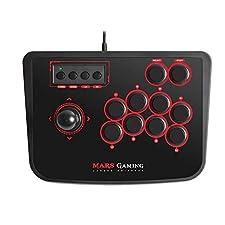 Mars Gaming MRA - Controlador Arcade Stick, PC,PS2,PS3 y Raspberry Pi Compatible