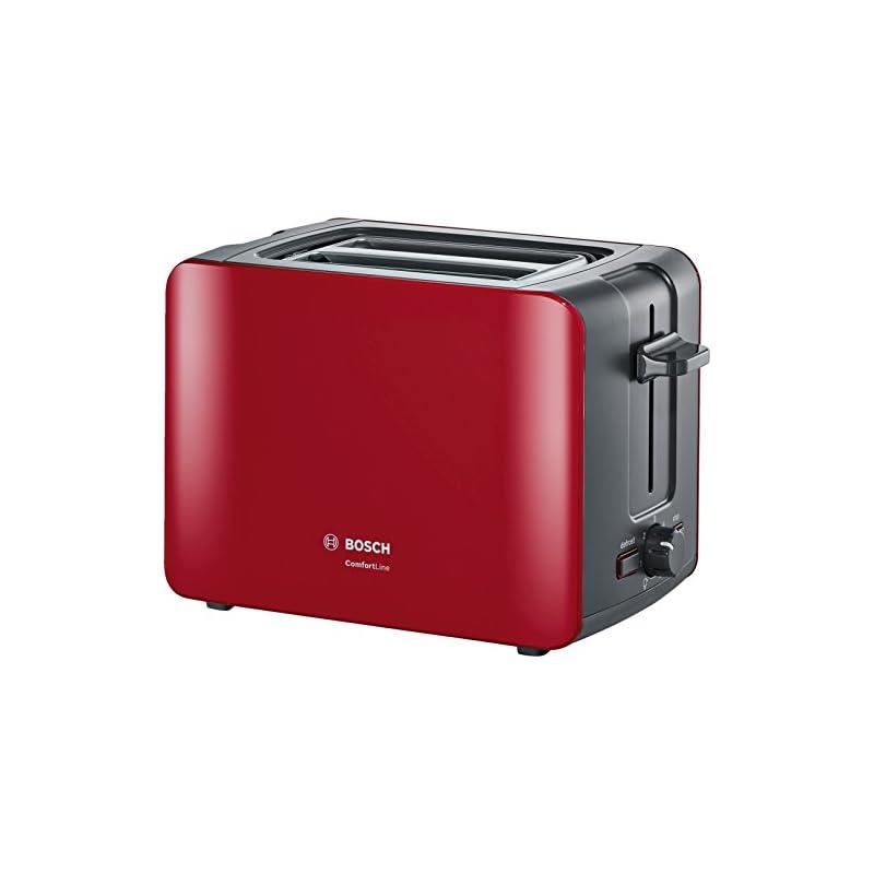 Bosch Tat6a114 Kompakt Toaster Comfortline Automatische Brotzentrierung Auftaufunktion 1090 W Rotanthrazit