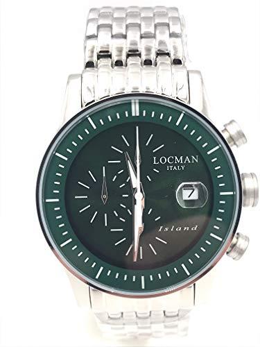 locman Island crono ref 620 Steel 40 mm 415 Euro dial Green.