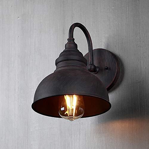 luminousky Nouveau applique murale marron métal abat-jour en dôme lampe d'extérieur terrasse lampe de chevet