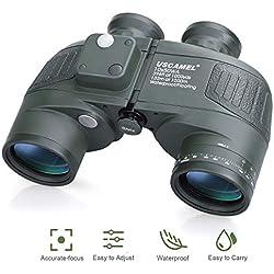 USCAMEL Jumelles Militaires 10X50 de Portée avec Boussole Binoculars, Haute Puissance, Haute Définition