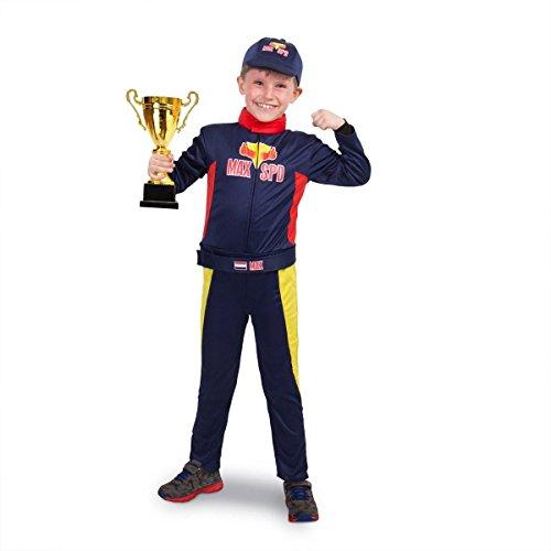 Folat 63284 Race Kostüm Max f. Kinder : Größe M-116-134-6-8 Jahre, boys, 116-124