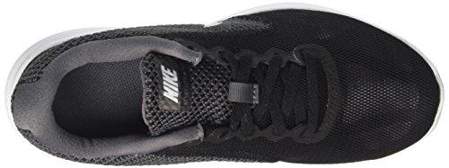 Nike Wmns Revolution 3 W, Scarpe da Corsa Bambina Nero (Dark Grey/white Black)