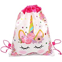 Unicorn Drawstring Bag for Girls Travel Storage Package Cartoon School Backpacks Children Birthday Party