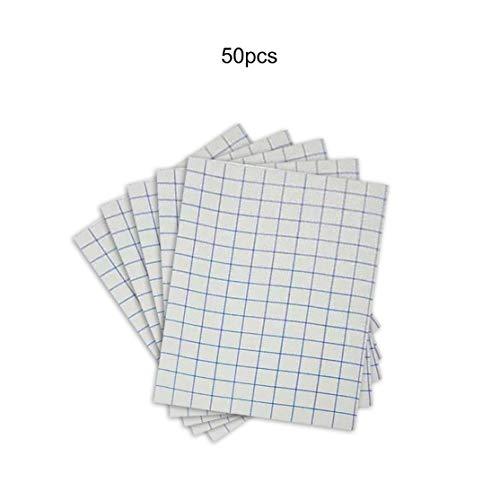 LouiseEvel215 50 Blatt A4 Eisen-Transferpapier für den dunklen Baumwoll-T-Shirt-Druck Übertragen Waschen Einfach Schnell trocknend abziehen -
