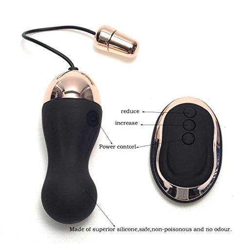 Bullet Vibrator Vibro Ei,Himall Fernbedienung Silikon Sexspielzeug Vibro Vibrationseier Orgasmus mit 10 Frequenzen Schwarz - 4